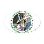 ALICE_CATERPILLAR_GREEN_3 copy Oval Car Magnet