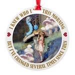 ALICE_CATERPILLAR_GOLD_3 copy Round Ornament