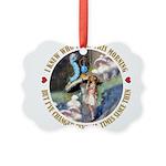 ALICE_CATERPILLAR_GOLD_3 copy Picture Ornament