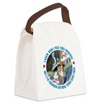 ALICE_CATERPILLAR_BLUE_3 copy Canvas Lunch Bag