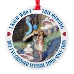 ALICE_CATERPILLAR_BLUE_3 copy Round Ornament