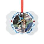 ALICE_CATERPILLAR_BLUE_3 copy Picture Ornament