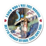 ALICE_CATERPILLAR_BLUE_3 copy Round Car Magnet