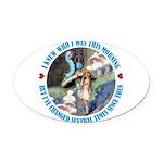 ALICE_CATERPILLAR_BLUE_3 copy Oval Car Magnet