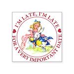 alice RABBIT im lateMA_RED copy Square Sticker