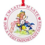 alice RABBIT im lateMA_PINK copy Round Ornamen