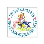 alice RABBIT im lateMA_BLUE copy Square Sticke