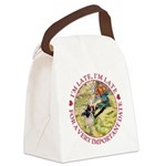 alice RABBIT im late_red copy Canvas Lunch Bag