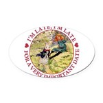 alice RABBIT im late_red copy Oval Car Magnet