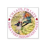 alice RABBIT im late_pink copy Square Sticker