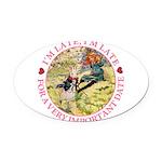 alice RABBIT im late_pink copy Oval Car Magnet