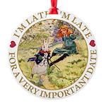 alice RABBIT im late_gold copy Round Ornament