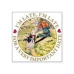 alice RABBIT im late_gold copy Square Sticker