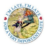 alice RABBIT im late_blue copy Round Car Magne