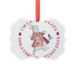 alice RABBIT im late red copy Picture Ornament