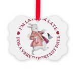 alice RABBIT im late red copy Picture Ornament