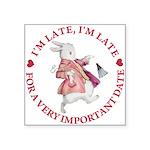 alice RABBIT im late red copy Square Sticker 3