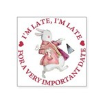 alice RABBIT im late red copy Square Sticker 3