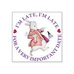 alice RABBIT im late purple copy Square Sticke