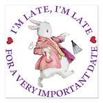 alice RABBIT im late purple copy Square Car Ma
