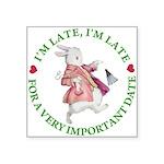 alice RABBIT im late green copy Square Sticker