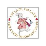alice RABBIT im late gold copy Square Sticker