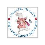 alice RABBIT im late blue copy Square Sticker