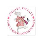 alice RABBIT im late copy Square Sticker 3