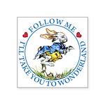 alice RABBIT follow me2 BLUE copy Square Stick