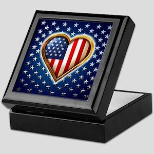 Heart Shaped Flag Keepsake Box