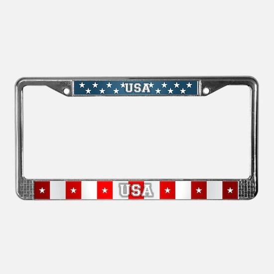 US Flag License Plate Frame
