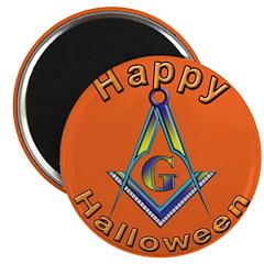 Masonic Halloween Magnet