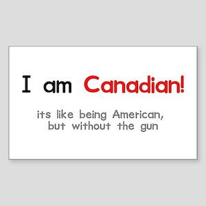 I am Canadian Rectangle Sticker