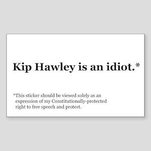 Kip Hawley Const Rectangle Sticker