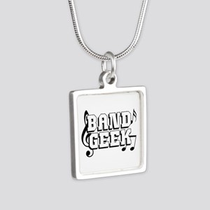 Band Geek Silver Square Necklace