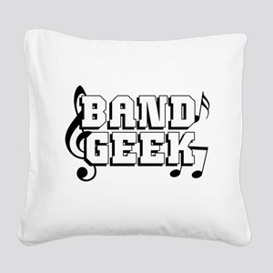 Band Geek Square Canvas Pillow