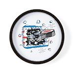 Hockey Puck Break Through Wall Clock