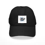 Hockey Puck Break Through Black Cap