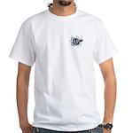 Hockey Puck Break Through White T-Shirt