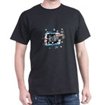 Hockey Puck Break Through Dark T-Shirt
