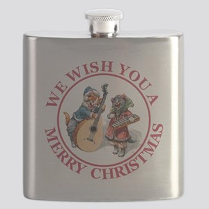 Christmas Cats 4 Red copy Flask