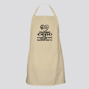 Cello Is Cheaper Than Therapy Light Apron