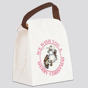 Christmas Cats 3 Pink copy Canvas Lunch Bag