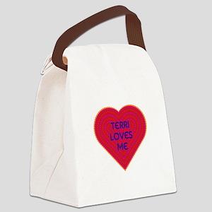 Terri Loves Me Canvas Lunch Bag