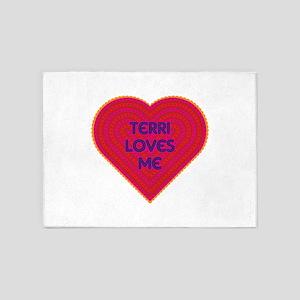 Terri Loves Me 5'x7'Area Rug