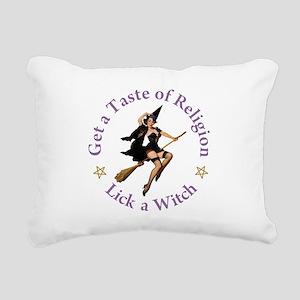 Get A Taste of Religion Rectangular Canvas Pillow