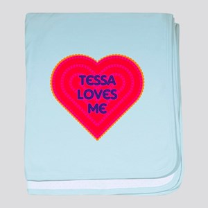Tessa Loves Me baby blanket