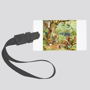book of gnomes005_SQ Large Luggage Tag