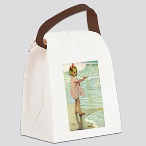 By The Ocean Canvas Lunch Bag