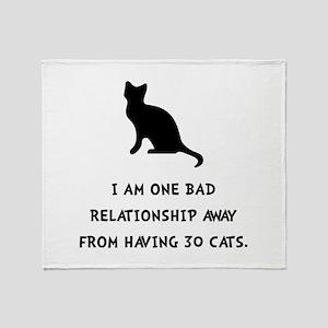 Bad Relationship Throw Blanket